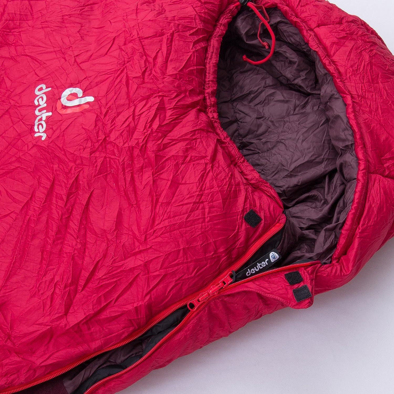 Deuter Orbit -5° - SL - Saco de Dormir, Unisex Adulto, Rojo(Cranberry-Aubergine): Amazon.es: Deportes y aire libre