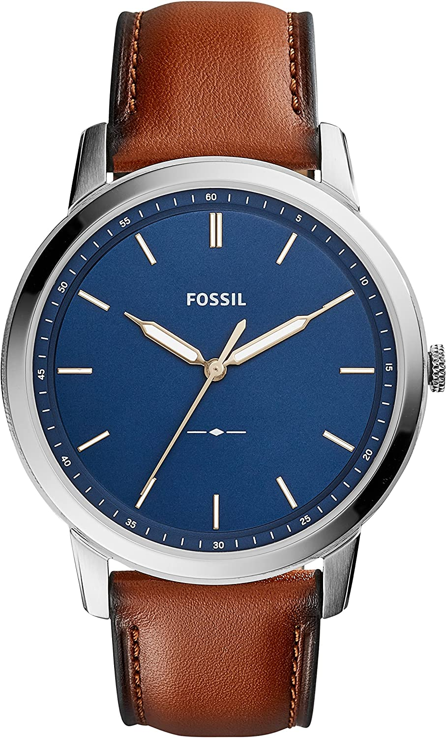 Fossil Men's The Minimalist Slim Three-Hand Light Brown Leather Watch