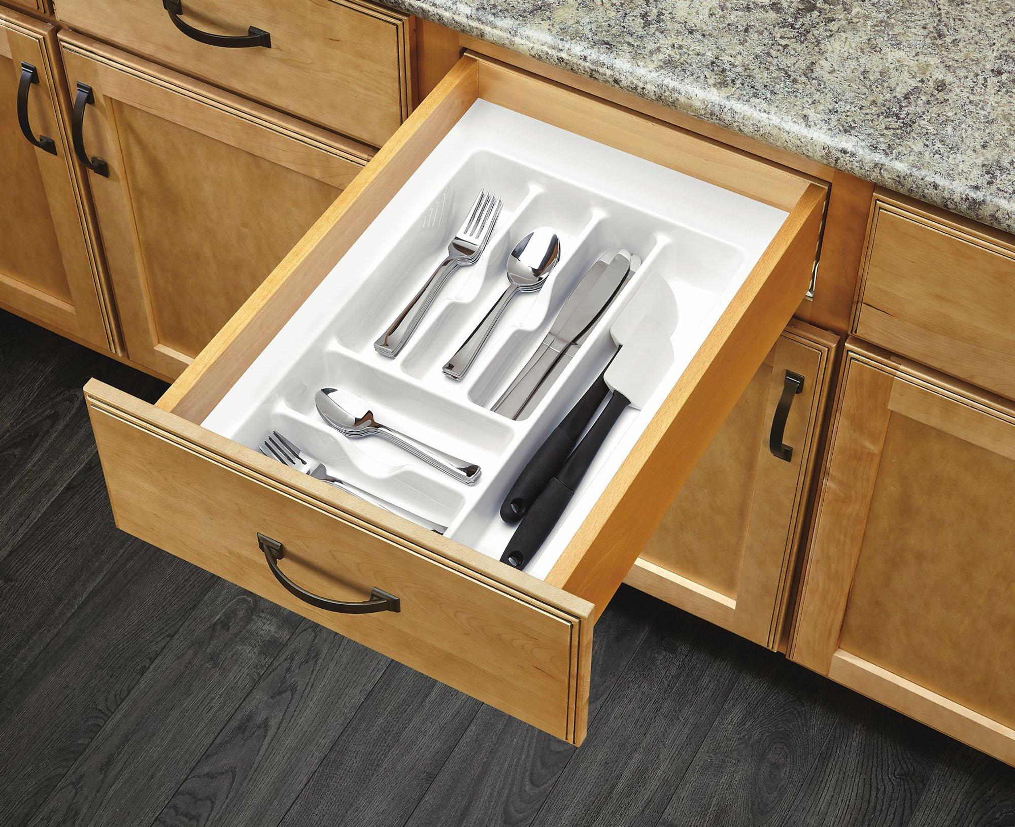 Rev-A-Shelf CT-2A-52 - Medium Almond Cutlery Tray Drawer Insert