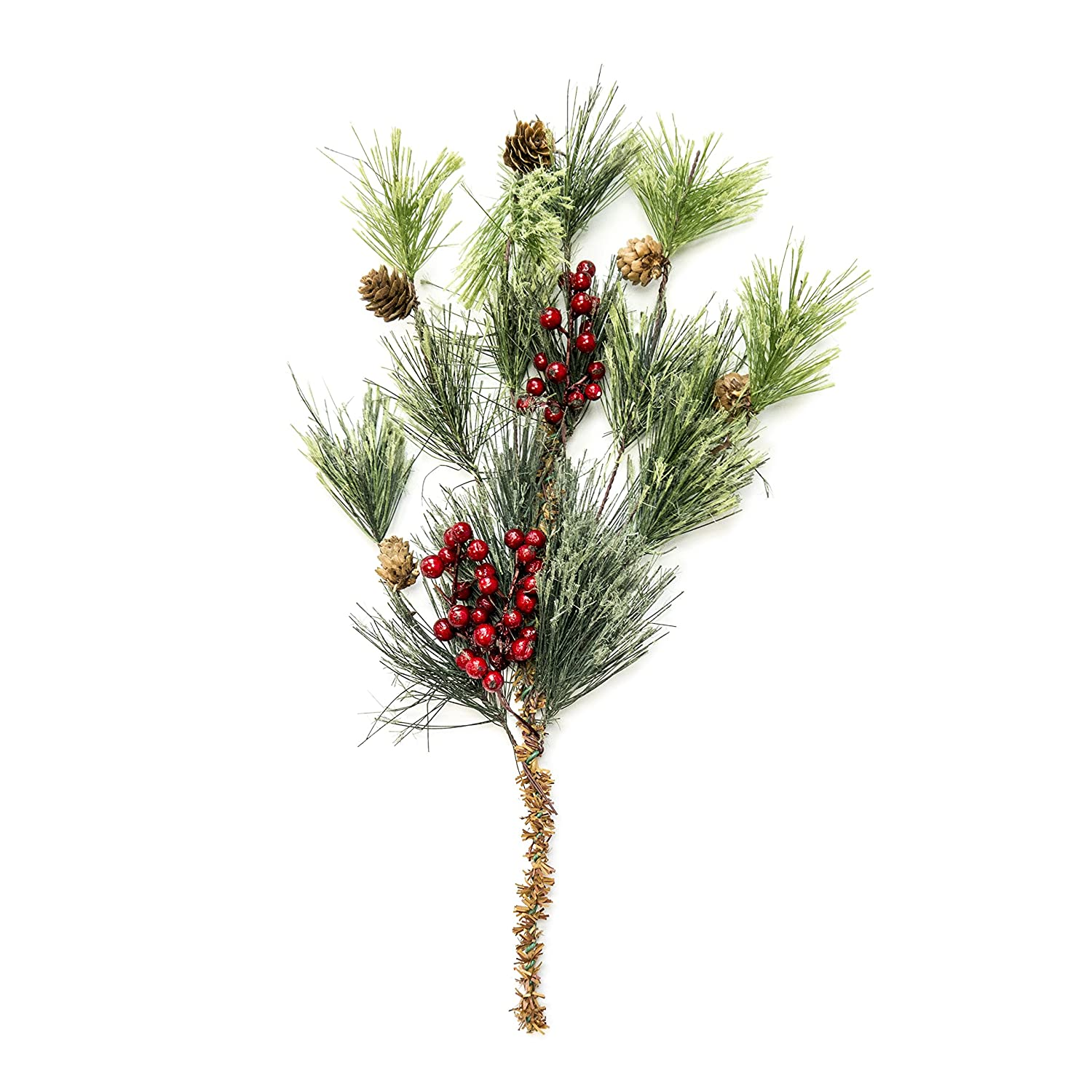 Pine Stems with Berries and Pinecones 6 Pack CraftMore