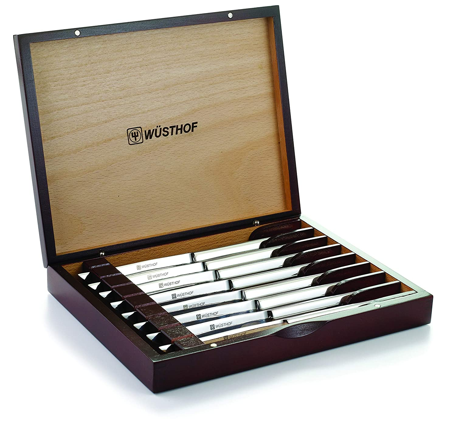 Wusthof Stainless-Steel Best Gift Steak Knife Set with Wooden Box