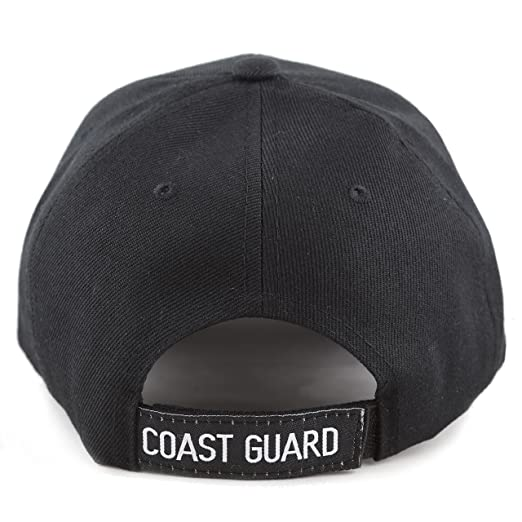 ad48e5cd054 THE HAT DEPOT Official Licensed Military U.S. Coast Guard Cap (Black) at  Amazon Men s Clothing store
