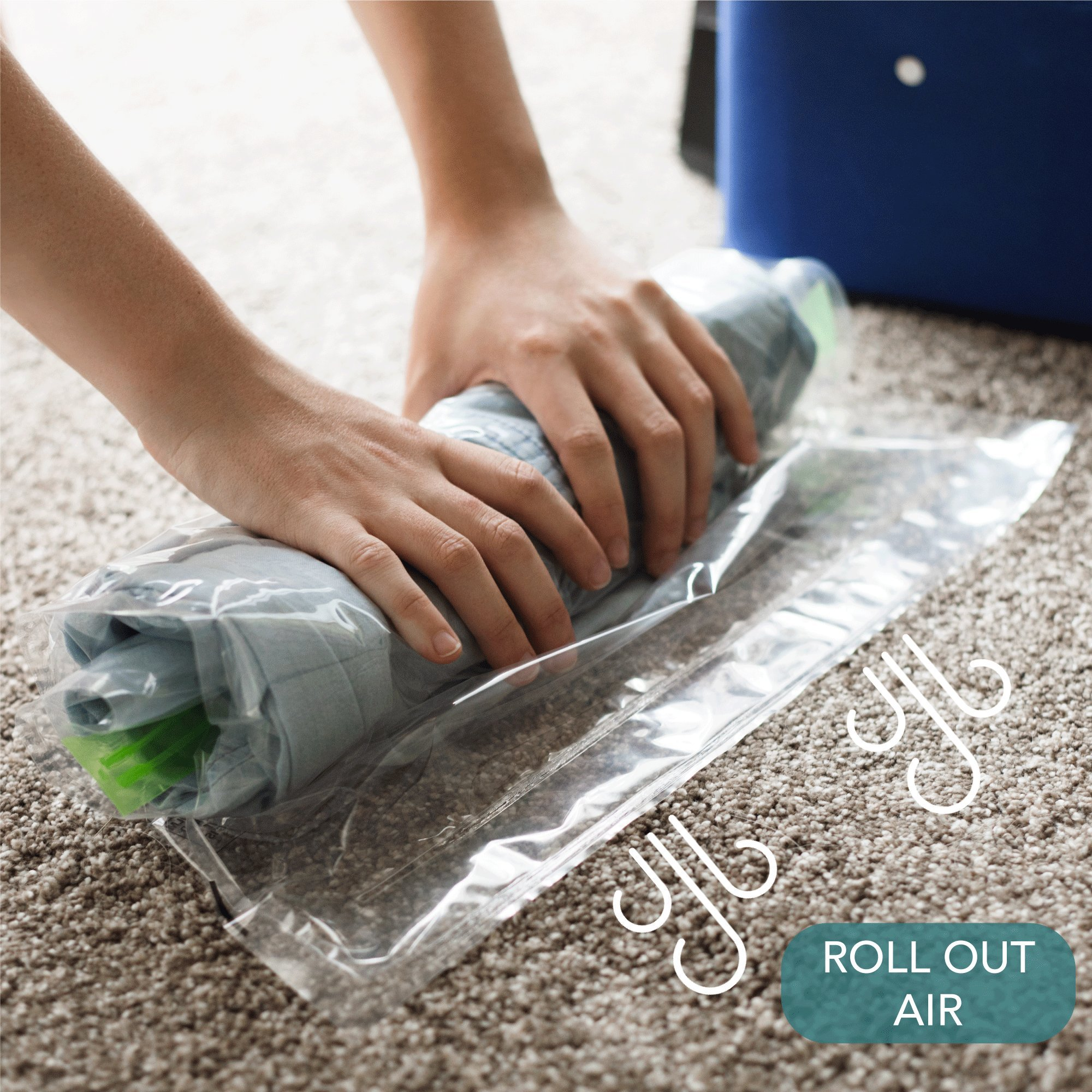 Acrodo Space Saver Packing Bags for Travel - 10-pack Rolling Compression Bags for Clothing by Acrodo (Image #4)