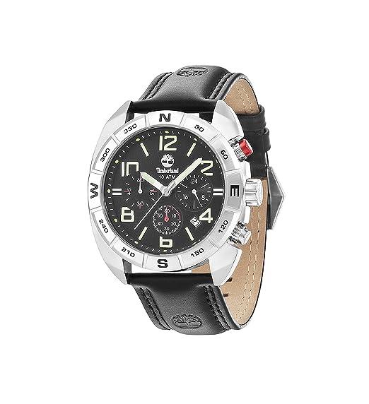 Timberland Oakwell - Reloj de cuarzo para hombre con esfera analógica y negro correa de piel negro 13670JS/02: Timberland: Amazon.es: Relojes