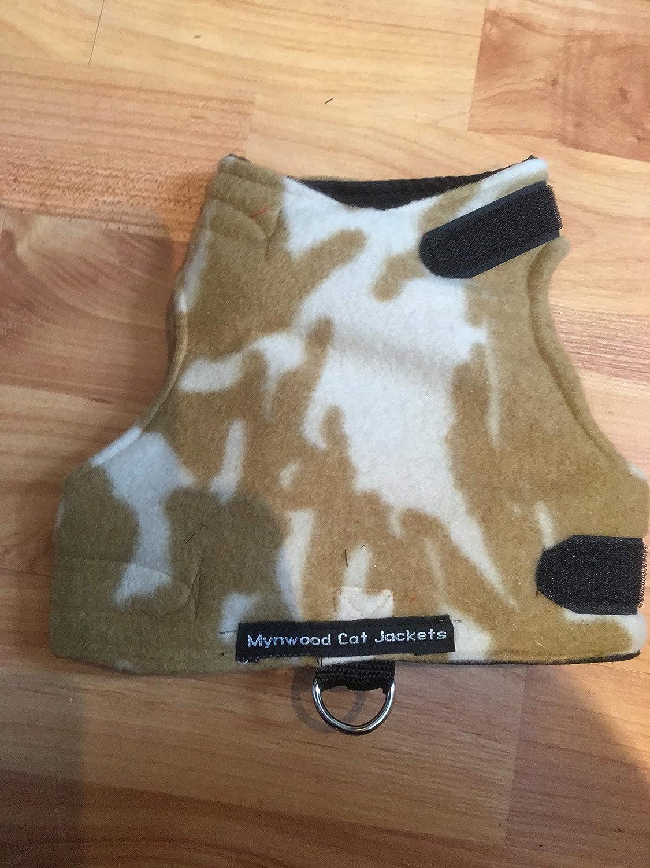 Escape Proof Mynwood Cat Jacket//Harness Sand Combat Fleece Kitten up to 8month