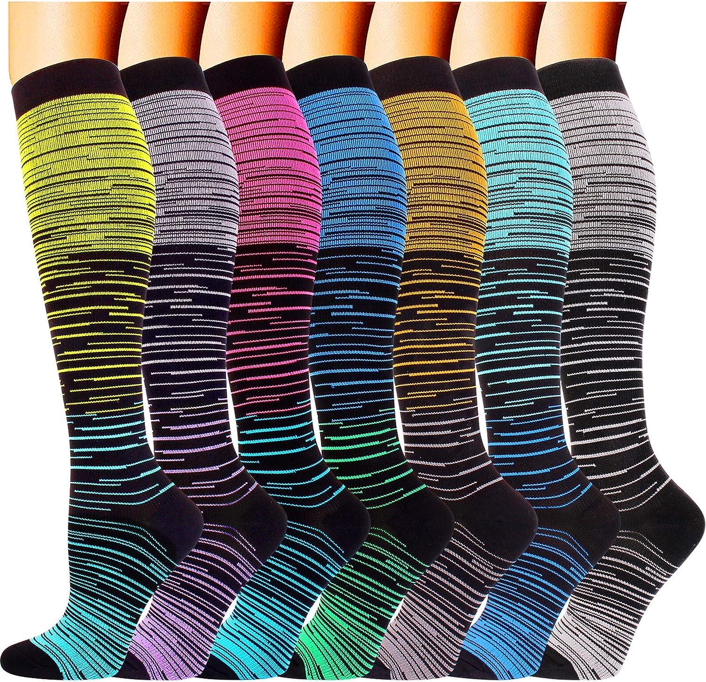 20-30mmHg for Men /& Women Estisoco Copper Compression Running Socks