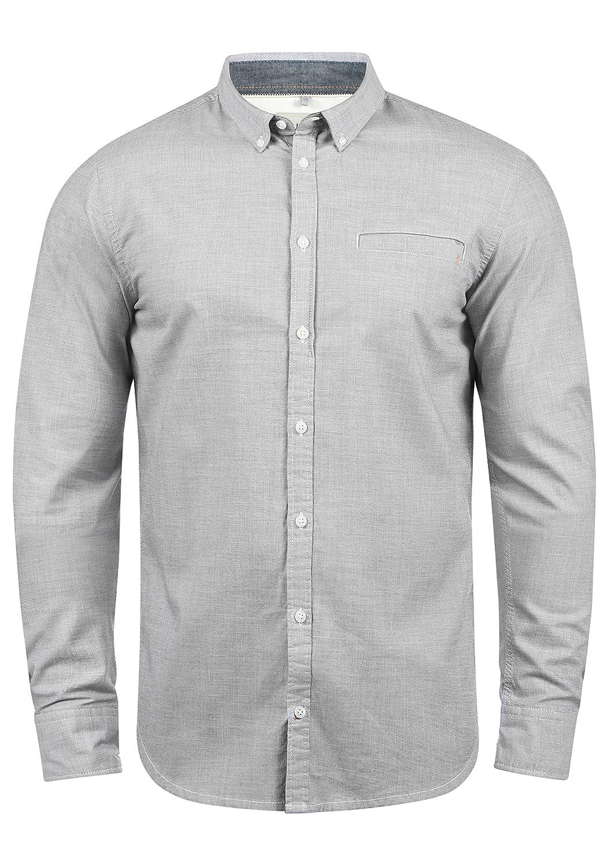 TALLA L. Blend Fill Camisa De Manga Larga con Botones En El Cuello De 100% algodón