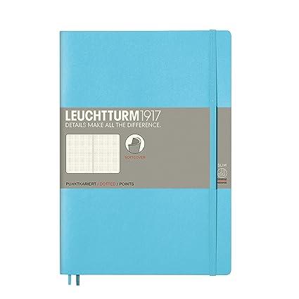 Leuchtturm 1917 - Cuaderno de tapa blanda, color Ice Blue Composition (B5)
