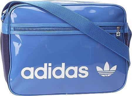 adidas Originals - Bolso al Hombro de Cuero para Mujer Azul Blau/Bluebird/WHI: Amazon.es: Equipaje
