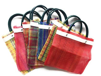 Mini Mexican Tote Favor Bags (Mexican Candy Bags - Mexican Mercado Bags - Mexican Mesh Bags - Bolsas Para Fiestas) 10 x 7 - Multi-Colored - Set of 6 ...