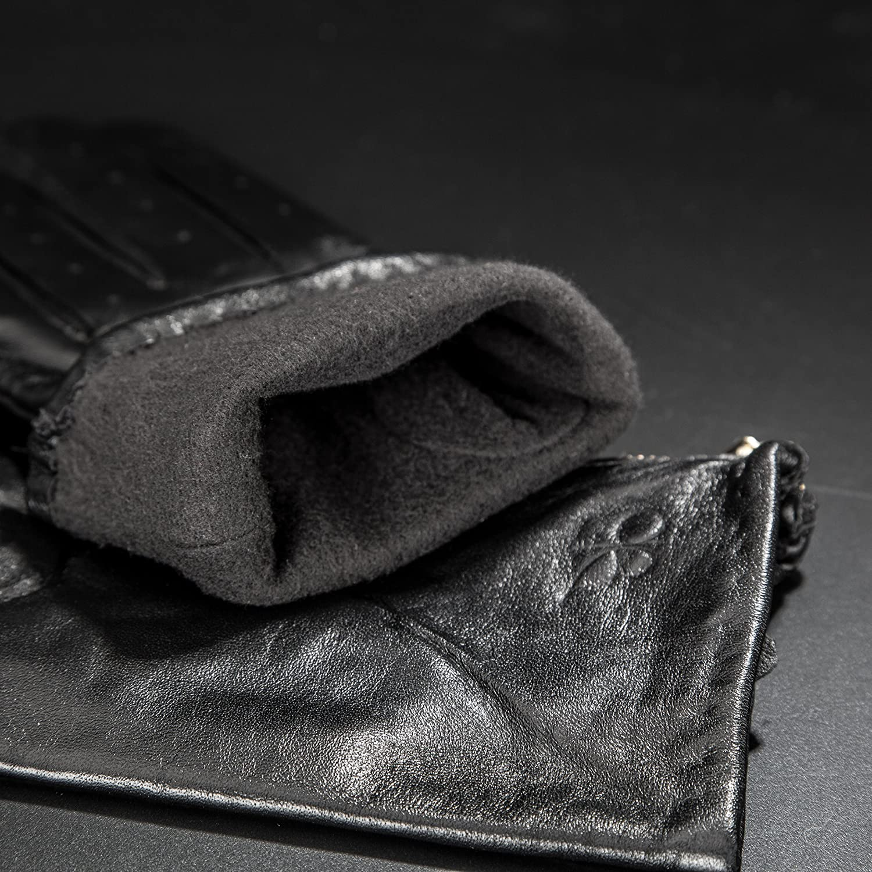 Berydale Damen Lederhandschuhe mit Rei/ßverschlu/ß