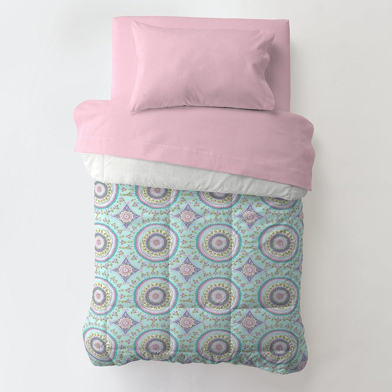 Carousel Designs Aqua Haute Baby Toddler Bed Comforter