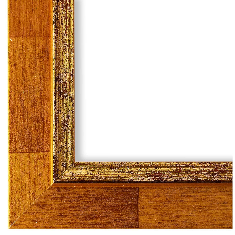 Online Galerie Bingold Bilderrahmen Hell-Braun Gold 70x90-70 x 90 cm - Modern, Shabby, Vintage - Alle Größen - Handgefertigt in Deutschland - LR - Catanzaro 3,9