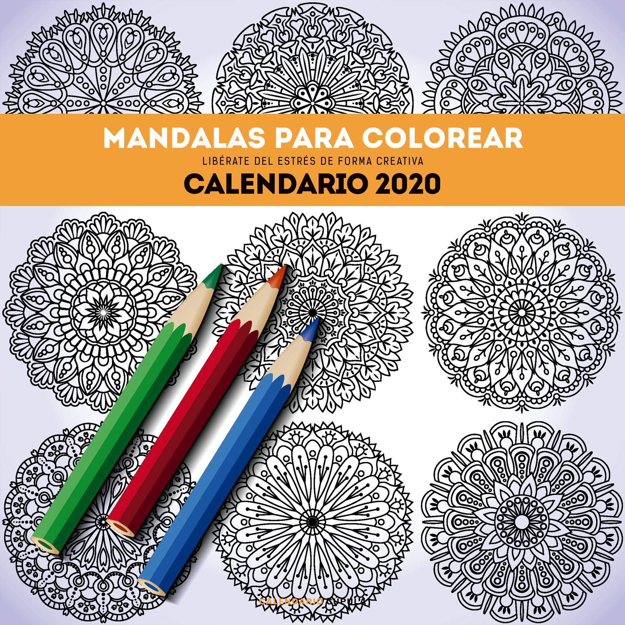 Calendario Mandalas para colorear 2020 Calendarios y agendas ...