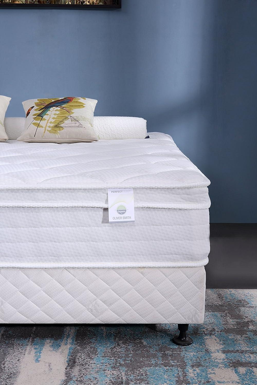 Oliver Smith - Organic Cotton - 12 Inch - Firm Mattress - Cool Memory Foam & Pocket Spring Mattress - Green Foam Certified - Twin (並行輸入品) (Full) B07CXFM1KM  ダブル