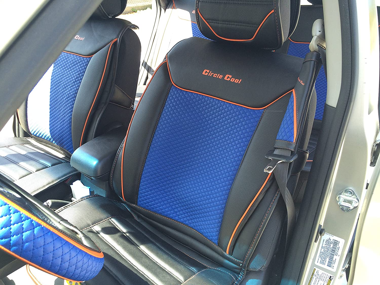 /Fundas de asiento para conductor y pasajero/ /Color Premium Negro tintada cuadros Combo delantero/
