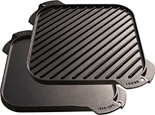 product image for Lodge LSRG3 Cast Iron Single-Burner Reversible Grill/Griddle, 10.5-inch