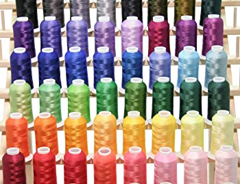 ThreadNanny PREMIUM 50 Cones (1100 Yards Each) of Polyester Embroidery Threads