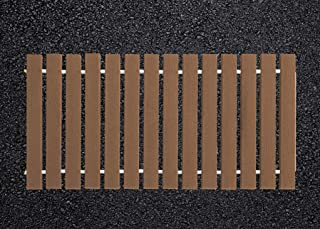 product image for Furniture Barn USA 4 Ft. Wide Roll-up Camp Walkway EverGrain Decking - Brown Weatherwood - 2 Ft. Length