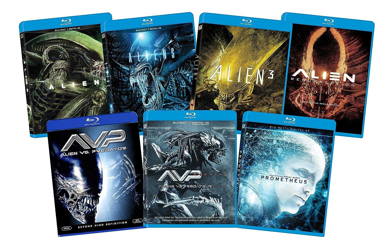 Amazon Com Alien 7 Film Franchise Blu Ray Bundle Movies Tv