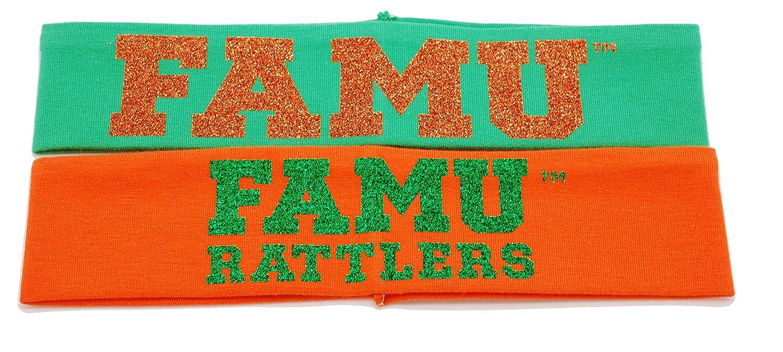 Florida A & Mヘッドバンド – FAMU in Glitterヘッドバンド(2パック)   B076QN46K1