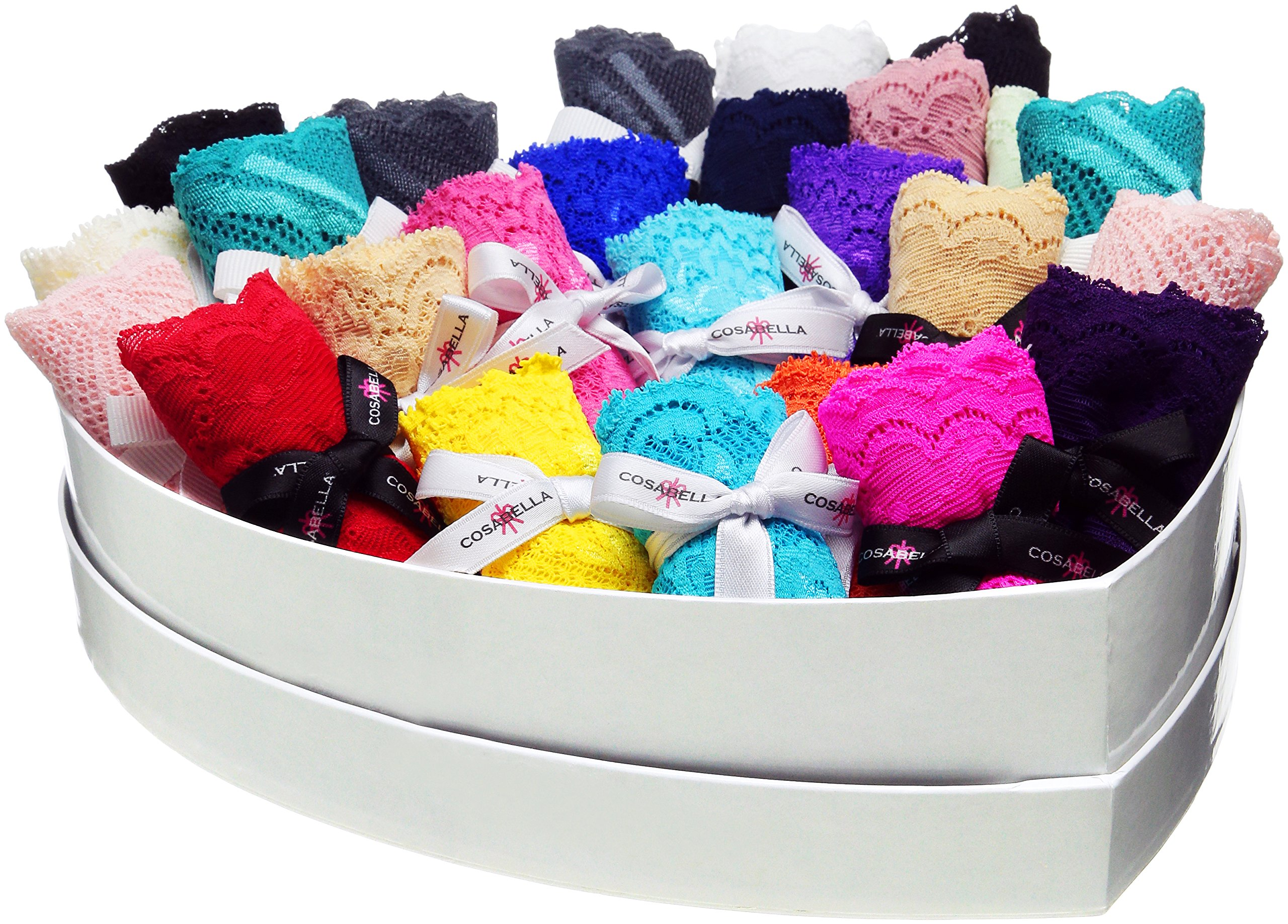 Cosabella Women's Box Of Love 25 Pack - Never Say Never Trenta and Minoa, Multi, One Size
