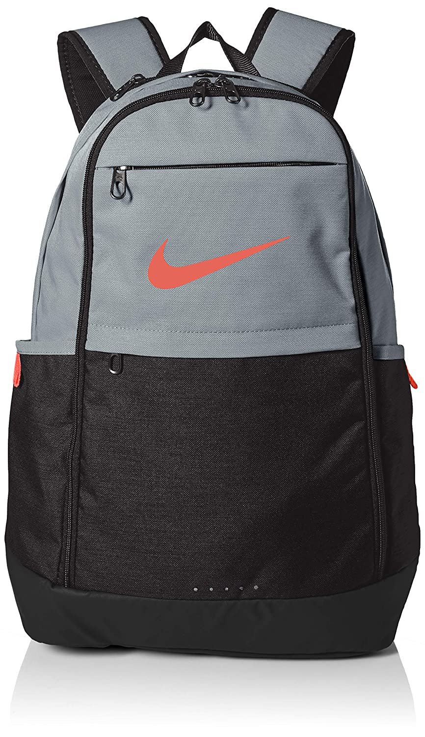 1e0159fab89 Amazon.com: Nike Brasilia Training Backpack, Extra Large Backpack Built for  Secure Storage with a Durable Design, Cool Grey/Black/Habanero Red: Clothing