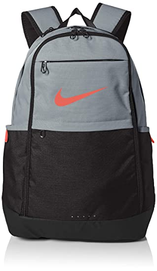 128a3b1f2 Amazon.com: Nike Brasilia Training Backpack, Extra Large Backpack Built for  Secure Storage with a Durable Design, Cool Grey/Black/Habanero Red: Clothing