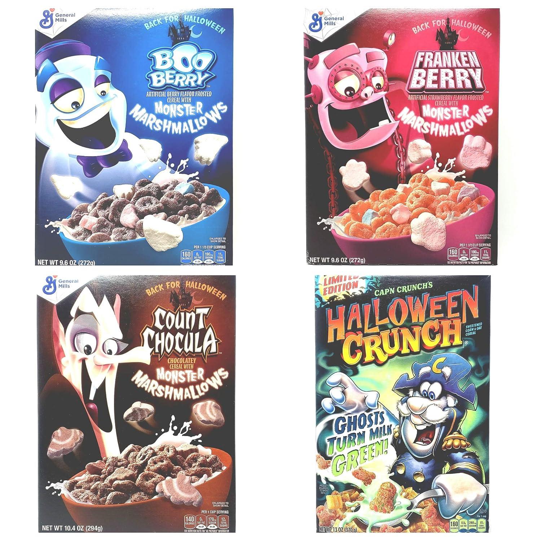 Halloween Crunch 2020 Amazon.com: Halloween Breakfast Cereal Variety Pack   Count