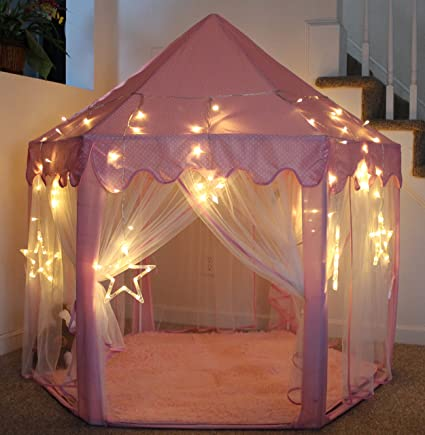 Image Unavailable & Amazon.com: LHinsights Princess Castle Play Tent With LARGE STAR ...