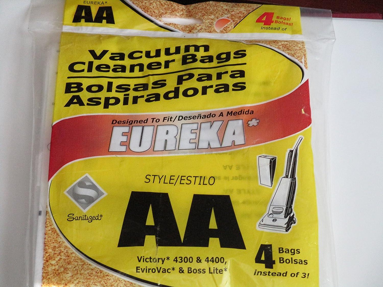 Vacuum Bags designed to fit Eureka AA, Victory 4300 & 4400, EnviroVac, Boss Lite ... 4 bags