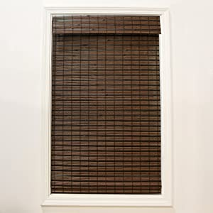 RADIANCE 2215210E Cordless Cocoa Havana Flatweave Bamboo Roman Shade, 34 in. W x 64 in. L
