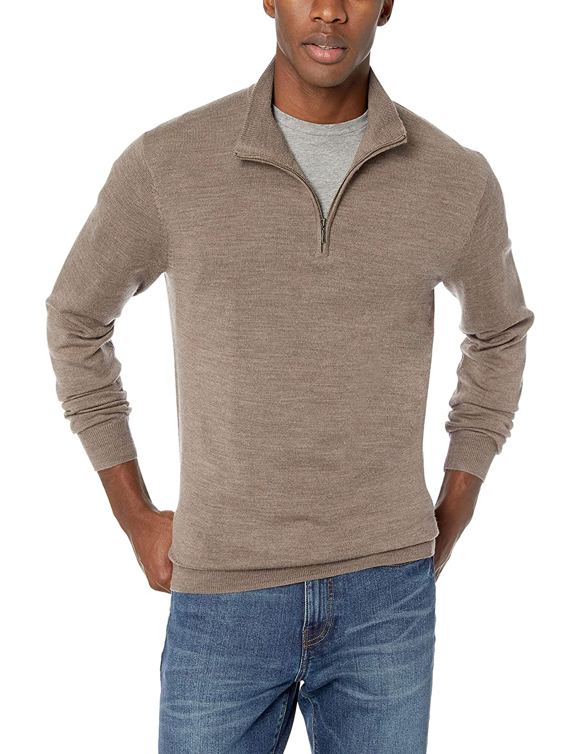 Goodthreads Merino Wool Quarter Zip Sweater Felpa Uomo