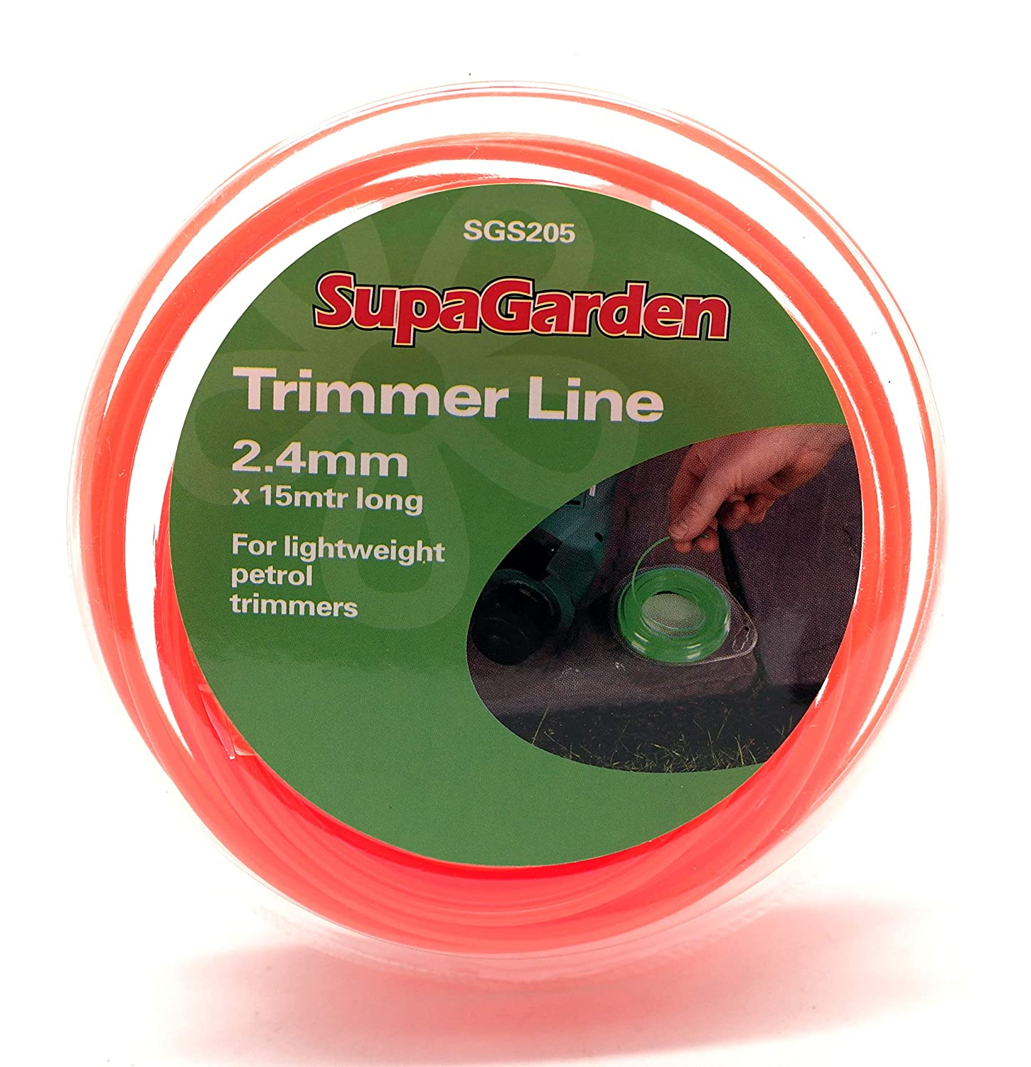 15m Trimmer Line 2.4mm Thickness Supagarden