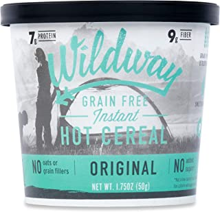 product image for Wildway Vegan, Keto Hot Cereal Cups | Original | Certified Gluten Free Instant Breakfast Cereal, Low Carb Snack | Grain-Free, Keto, Paleo, Non-GMO, No Artificial Sweetener | 6 pack