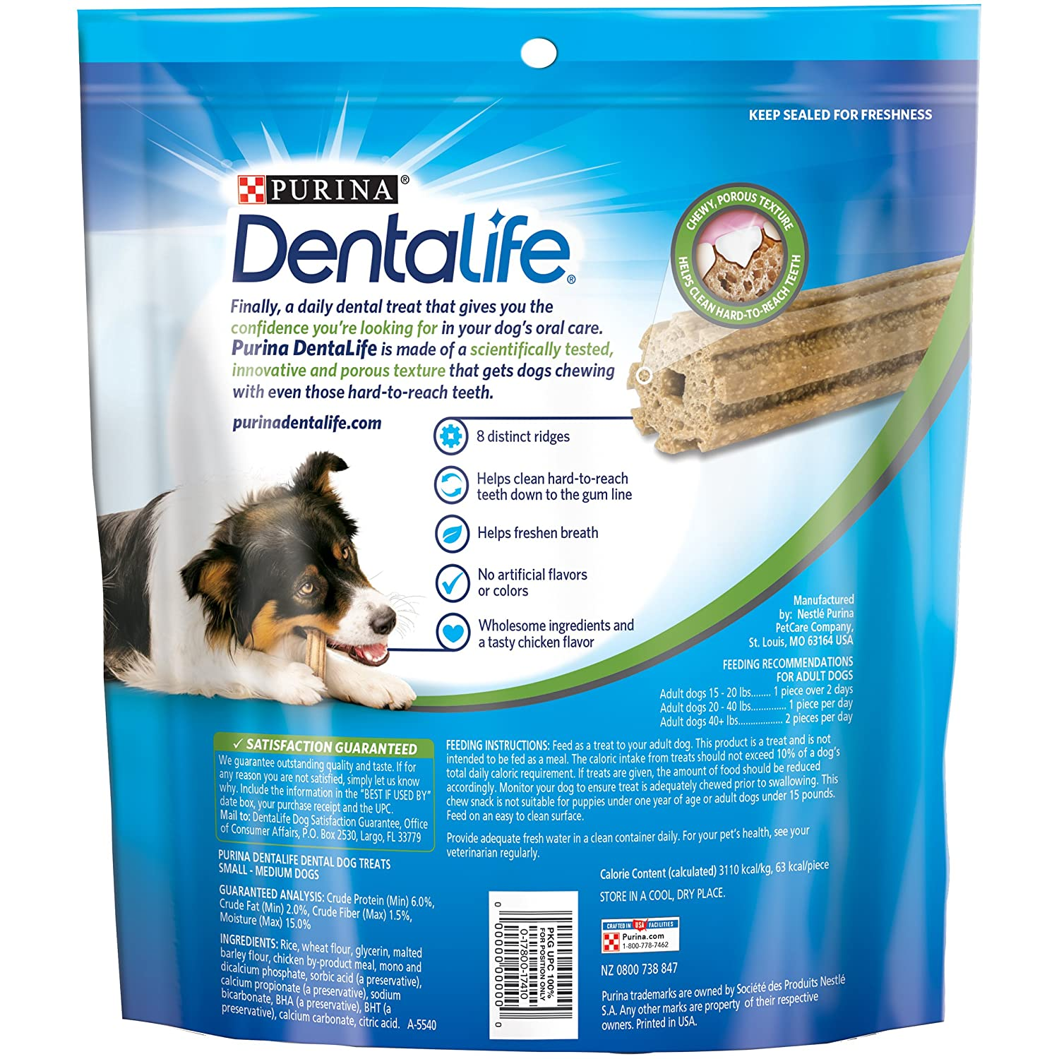 Amazon purina dentalife daily oral care smallmedium adult dog amazon purina dentalife daily oral care smallmedium adult dog treats 1 285 oz 40 ct pouch pet supplies publicscrutiny Image collections