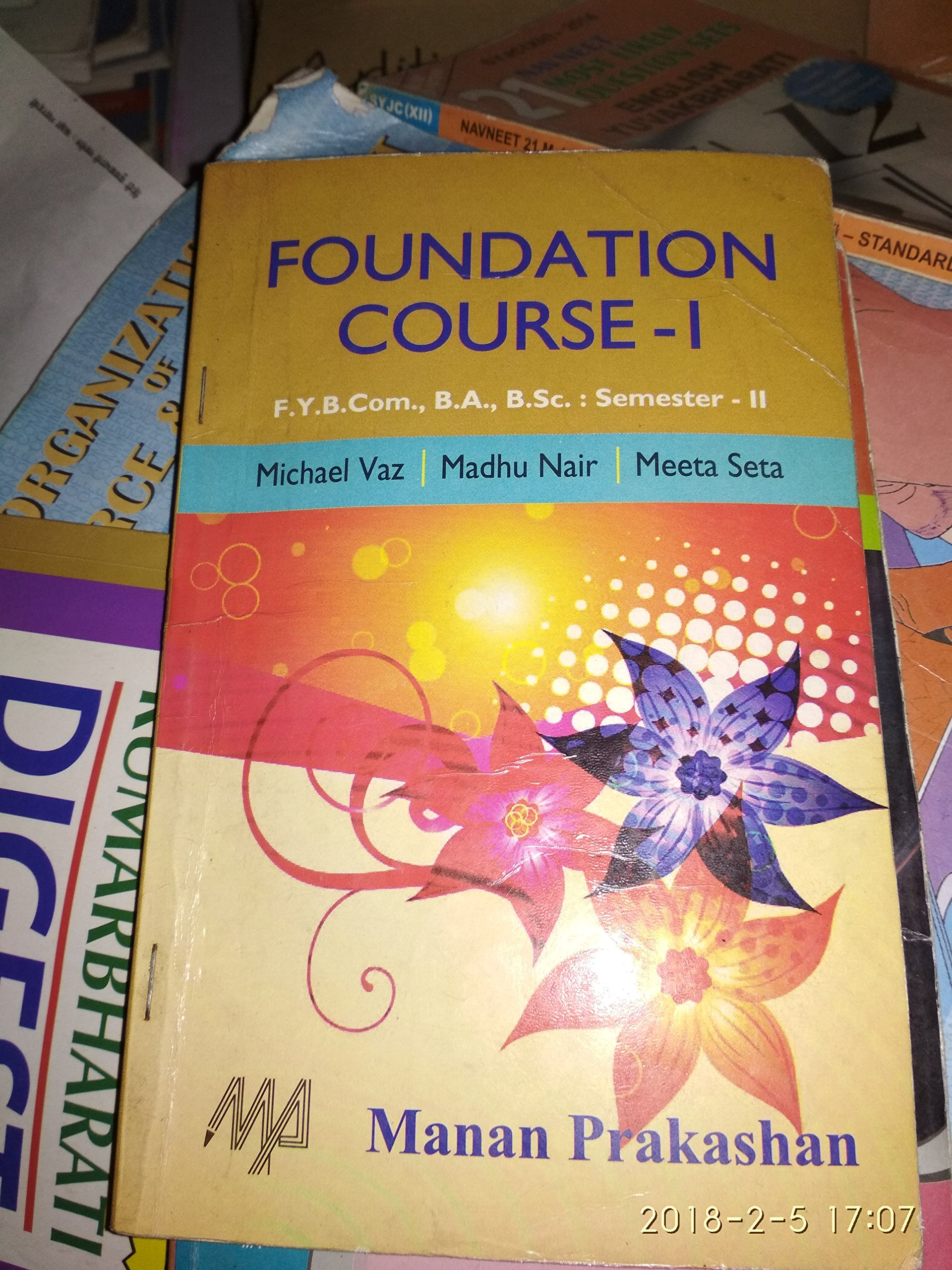 Amazon in: Buy FY Bcom Sem 2 Manan Prakashan all Textbooks(3) Book