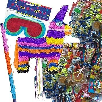 Piñata Juego: * Bunter Burro * con + Máscara + + 100 piezas ...