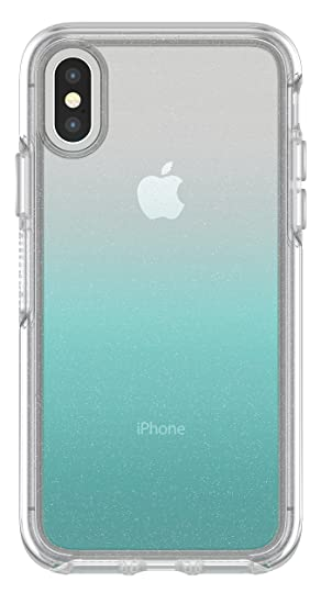 reputable site 53092 051a2 OtterBox SYMMETRY CLEAR SERIES Case for iPhone Xs & iPhone X - Retail  Packaging - ALOHA OMBRE (SILVER FLAKE/CLEAR/ALOHA OMBRE)
