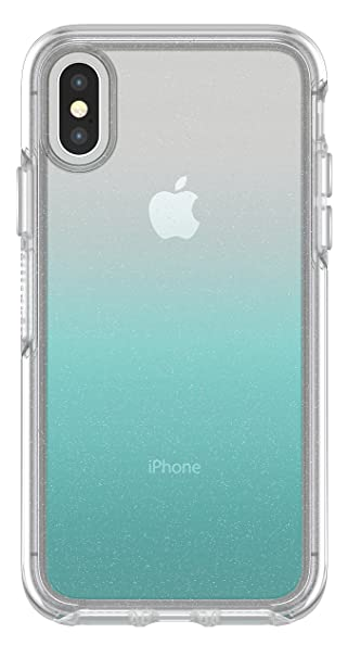 reputable site 17df5 f4077 OtterBox SYMMETRY CLEAR SERIES Case for iPhone Xs & iPhone X - Retail  Packaging - ALOHA OMBRE (SILVER FLAKE/CLEAR/ALOHA OMBRE)
