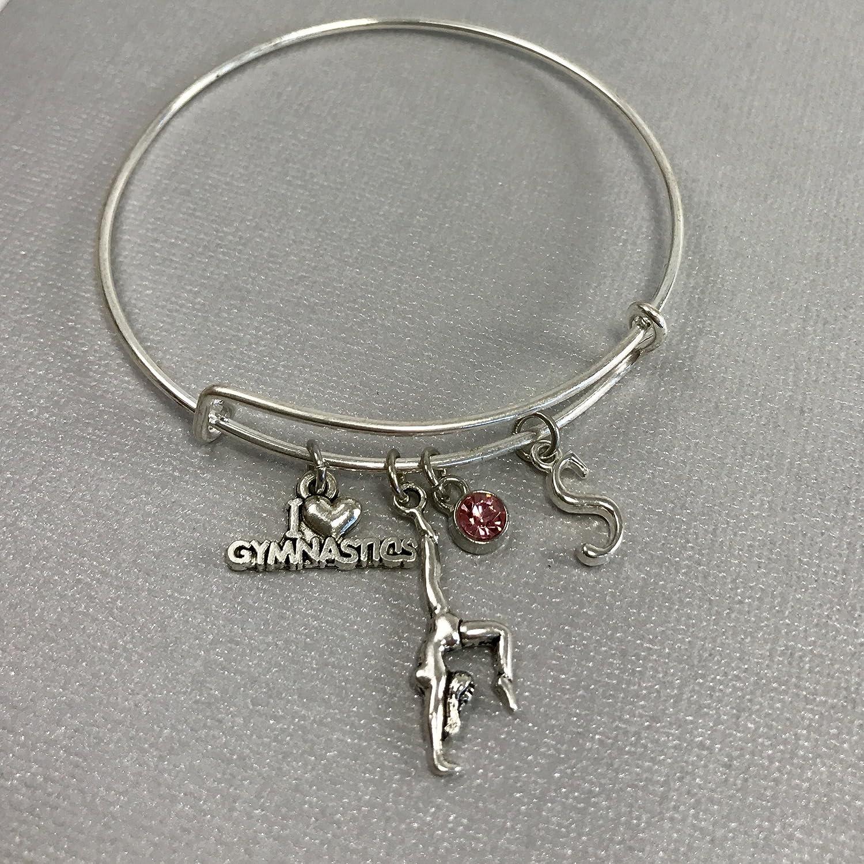 Gymnastics Gift Gymnastics gift for girls Personalized Jewelry Stocking Stuffer Gymnastics Charm Bracelet