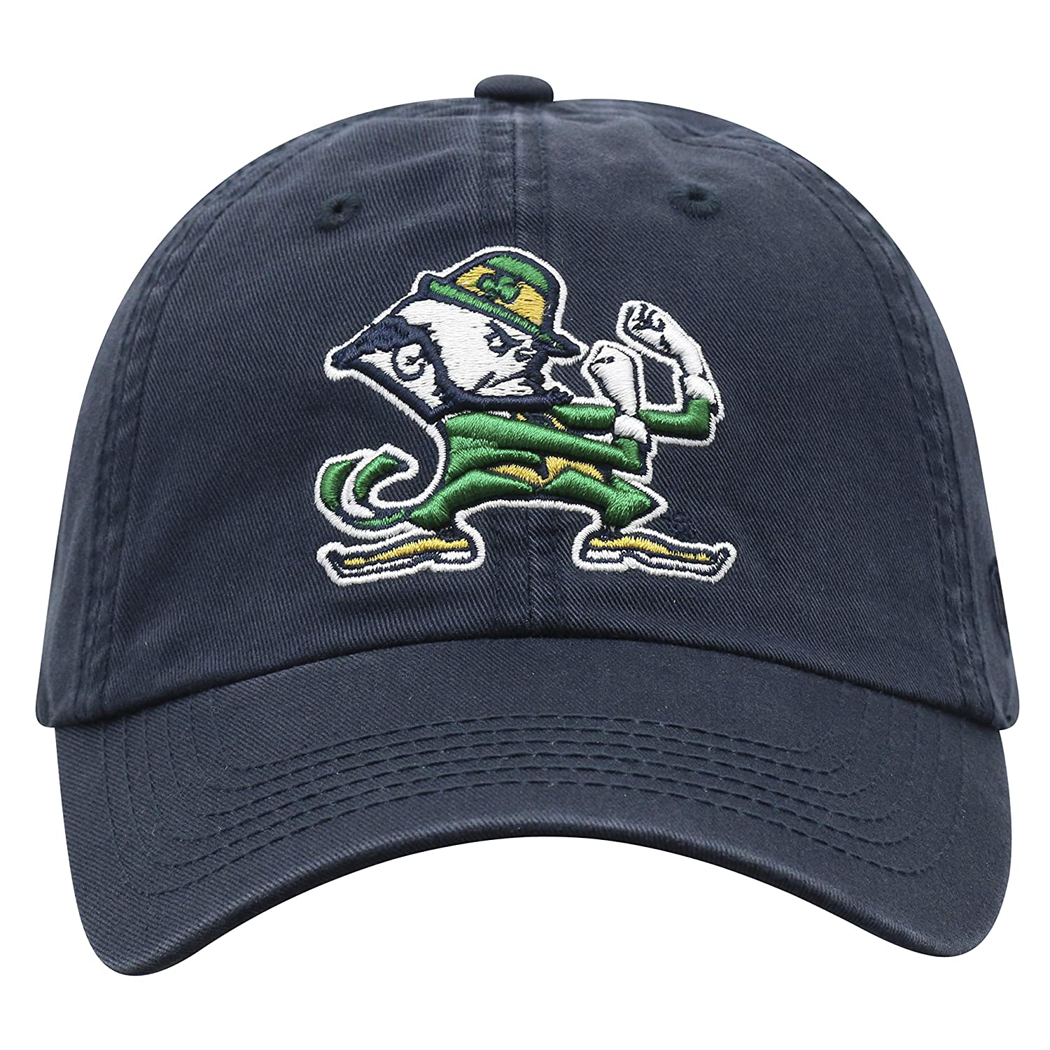 Navy Top of the World NCAA Notre Dame Fighting Irish Mens Adjustable Relaxed Fit Team Icon Hat
