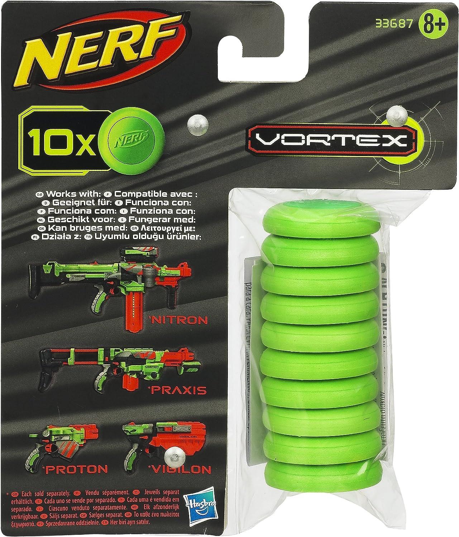 Nerf - Pack de 10 Discos (Hasbro 33687E35): Amazon.es: Juguetes y juegos