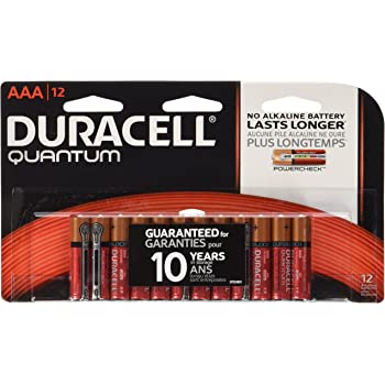 Amazon.com: Duracell Quantum Alkaline AAA Batteries, 12