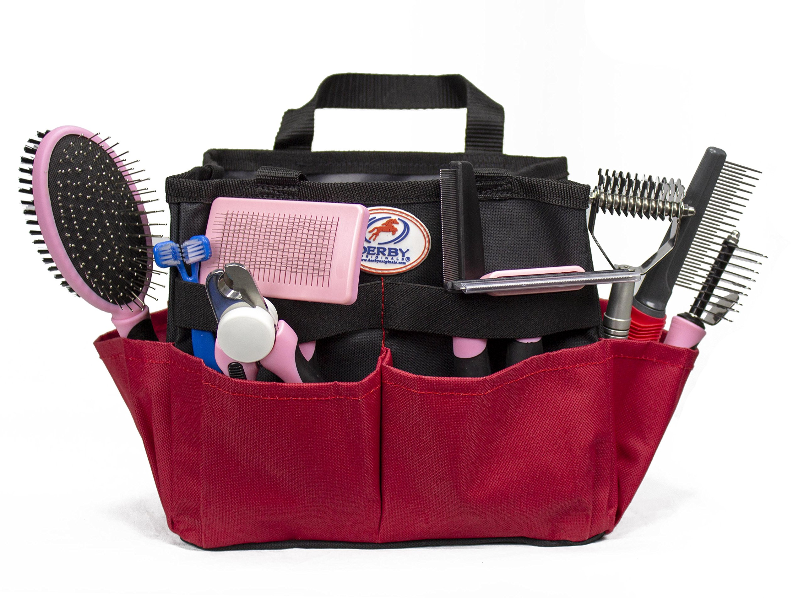 cuteNfuzzy 11 Piece New Pet Small or Large Grooming Starter Kits in 2 Colors for Dogs & Cats, Pink, Large