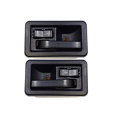 PT Auto Warehouse CH-2833A-DP - Inside Interior Inner Door Handle, Black - Left/Right Pair: Automotive