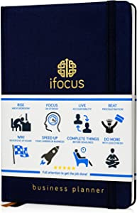 Business Planner Undated for Entrepreneurs! Focus Project Notebook for Productivity! 2020 Best Daily Weekly Self Organizer Planner/Win The Day! Beat Procrastination! Ifocus - A5 Work Planner