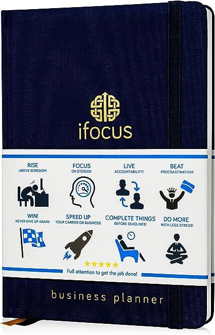 Produktivität Planer Undatiert für Unternehmer. Focus