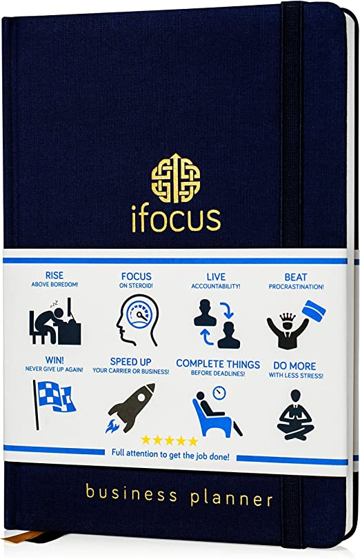 Business Planner Undated for Entrepreneurs! Focus Project Notebook for Productivity! Best Daily Weekly Self Organizer Planner/Win The Day! Beat Procrastination! Ifocus - A5 Work Planner