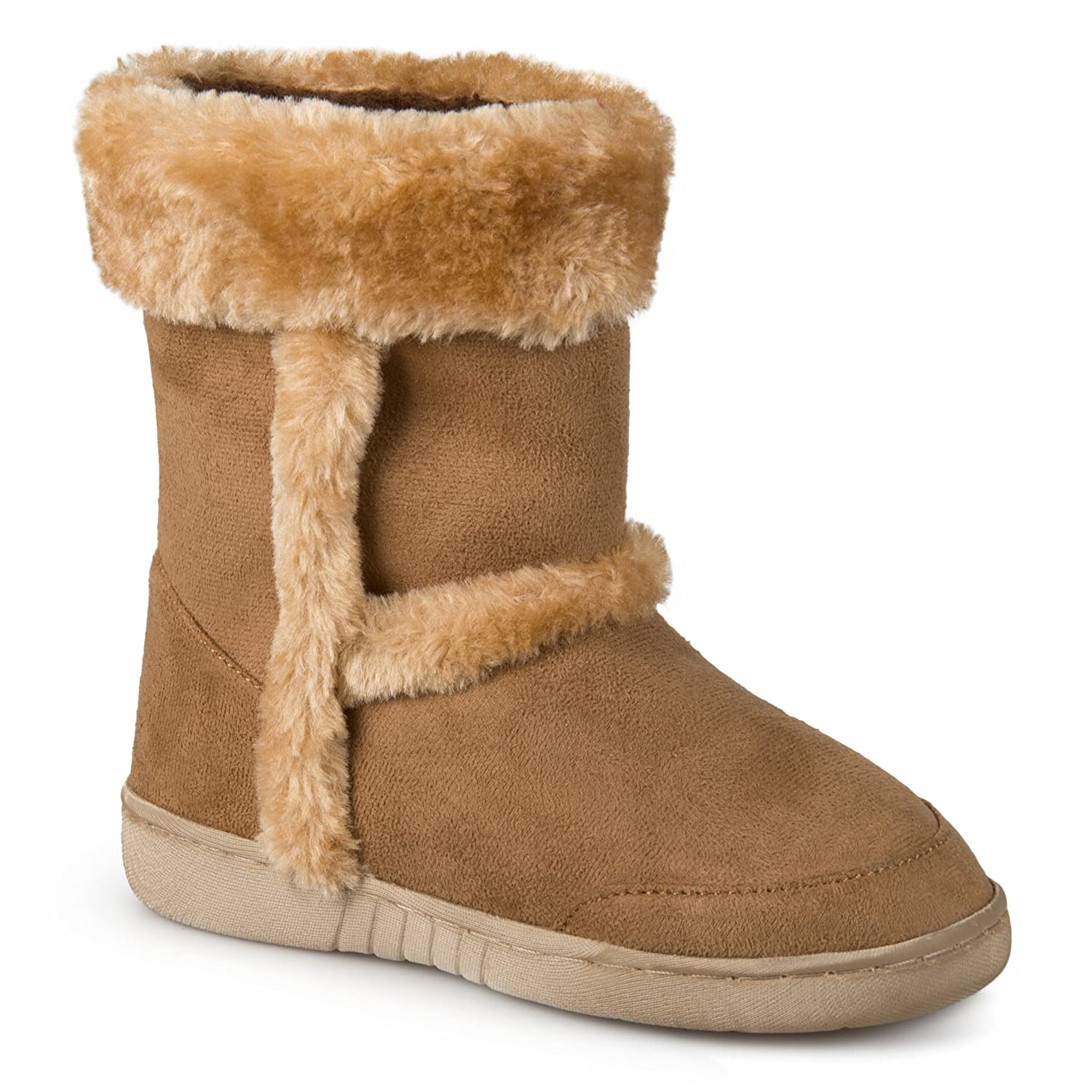 Journee Collection Kids Girls Faux Fur Trim Boots